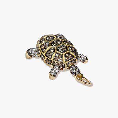 Mythology 18ct Gold Diamond Baby Turtle Pendant