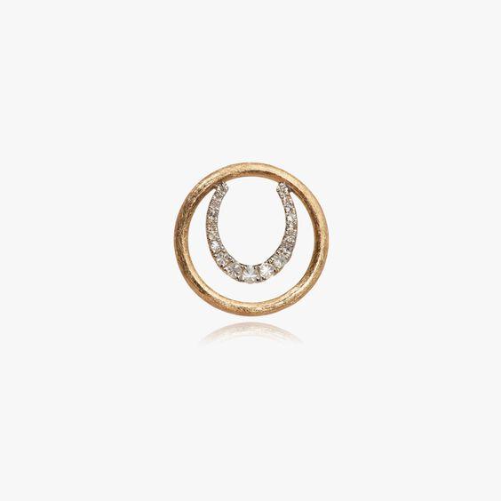 18ct Gold Diamond Horseshoe Hoopla