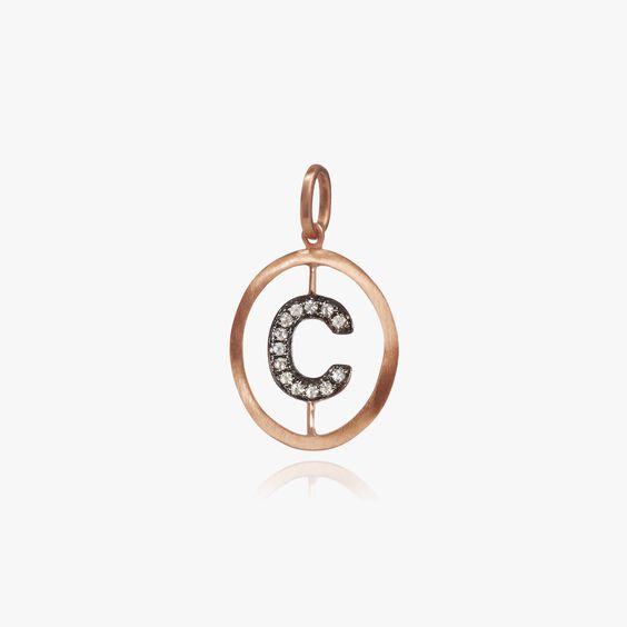 18ct Rose Gold Initial C Pendant | Annoushka jewelley