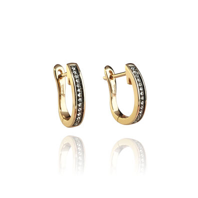 Eclipse 18ct Gold Porcupine Diamond Hoop Earrings