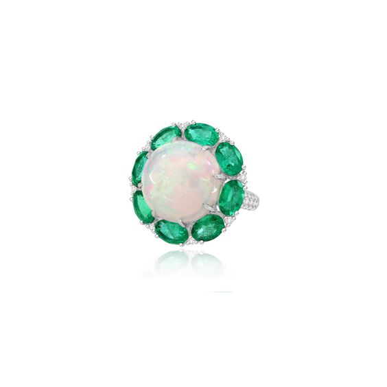 Sutra Opal & Emerald Ring | Annoushka jewelley