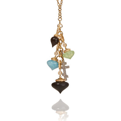 Touch Wood 18ct Gold Diamond Charm Necklace