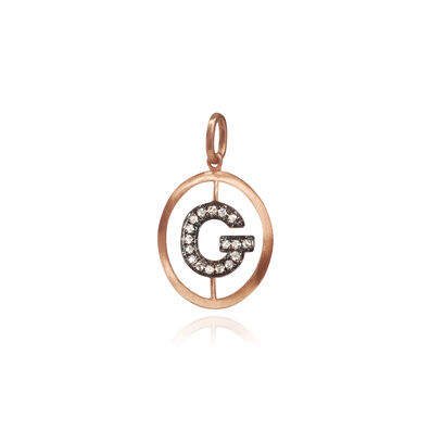 18ct Rose Gold Initial G Pendant