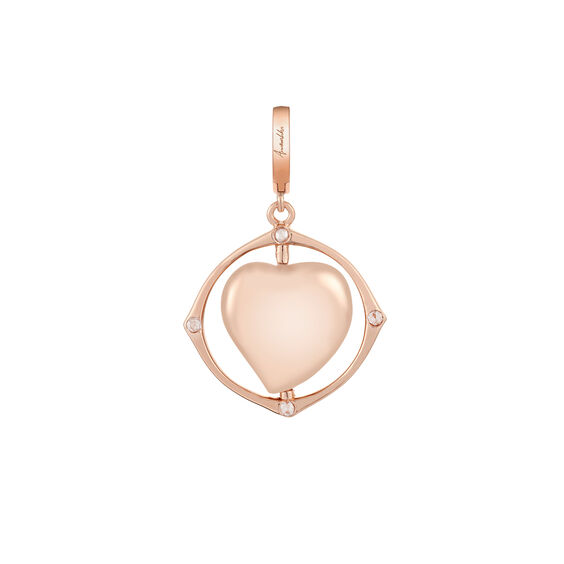 Mythology 18ct Rose Gold Spinning Heart Locket Charm | Annoushka jewelley