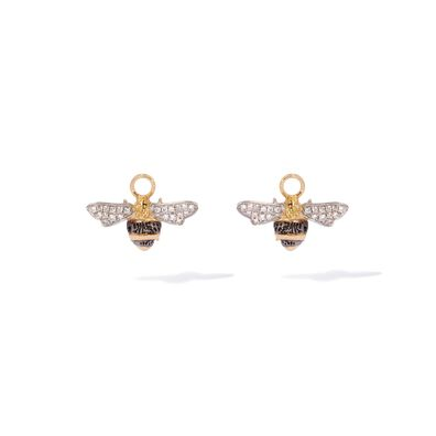 Mythology 18ct Gold Diamond Bee Earring Drops