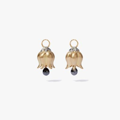 18ct Gold Tulip Diamond Earring Drops