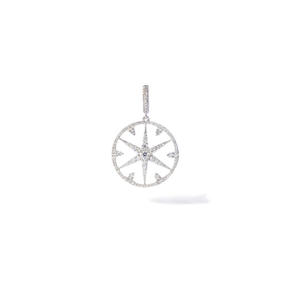Mythology 18ct White Gold Diamond Small Star Charm | Annoushka jewelley