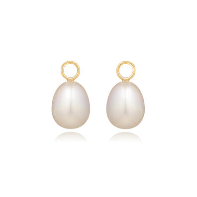 18ct Gold Baroque Pearl Earring Drops