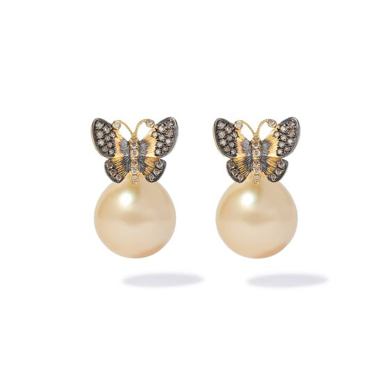 18ct Gold South Sea Pearl Butterfly Earrings   Annoushka jewelley