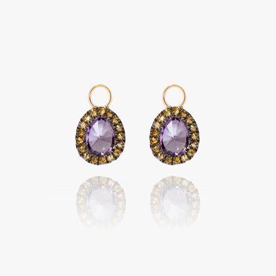 Dusty Diamonds 18ct Gold Amethyst Mini Earring Drops