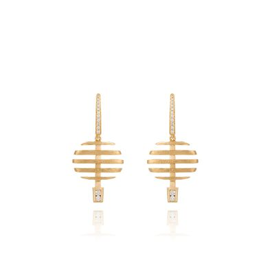Garden Party 18ct Gold Diamond Small Earrings