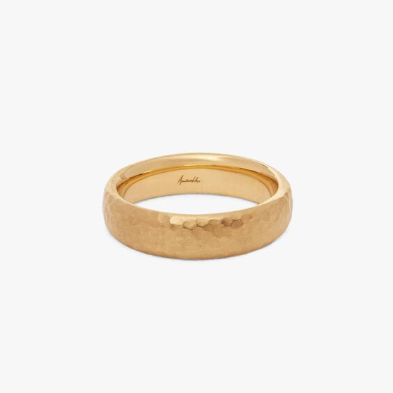 18ct Gold Organza 5mm Band Ring  | Annoushka jewelley