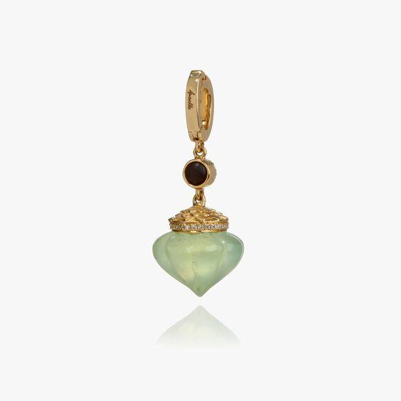 Touch Wood 18ct Gold Diamond Prehnite Charm | Annoushka jewelley