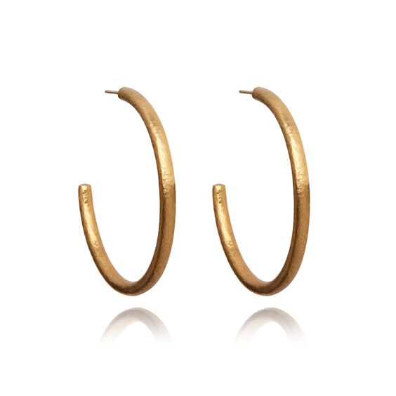 18ct Gold Organza Hoop Earrings