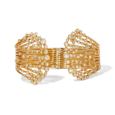 Hidden Reef 18ct Gold Diamond Cuff