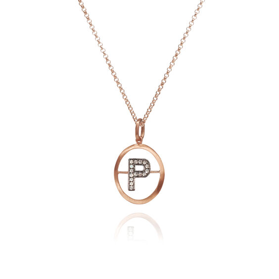 18ct Rose Gold Initial P Necklace | Annoushka jewelley