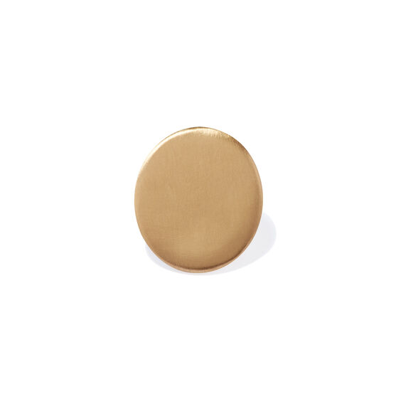 18ct Gold Single Polished Cufflink | Annoushka jewelley