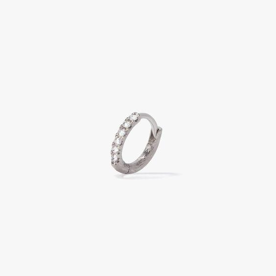 Dusty Diamonds 18ct White Gold Diamond 10mm Hoop | Annoushka jewelley