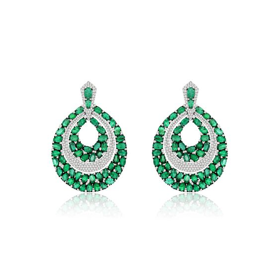Sutra Emerald Earrings | Annoushka jewelley