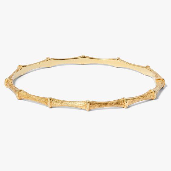 Bamboo 18ct Gold Bangle