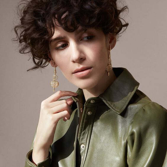 Garden Party 18ct Gold Diamond Large Earrings | Annoushka jewelley
