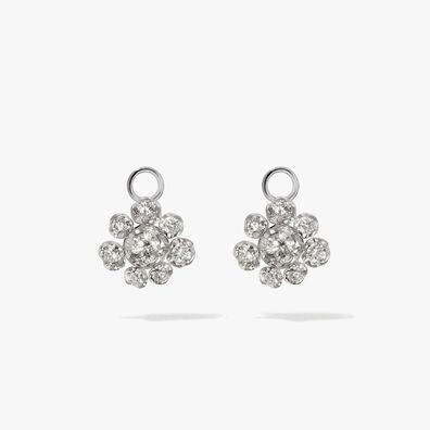 Marguerite 18ct White Gold Diamond Earring Drops