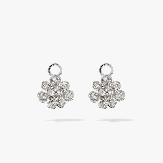 Marguerite 18ct White Gold Diamond Earring Drops | Annoushka jewelley