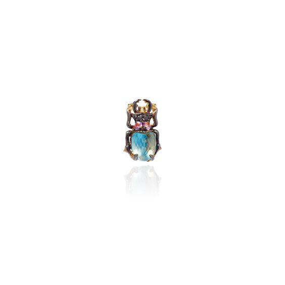 Mythology 18ct Gold Topaz Beetle Single Stud | Annoushka jewelley