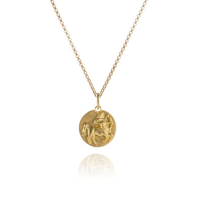 Mythology 18ct Gold Sagittarius Necklace