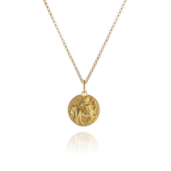 Mythology 18ct Gold Sagittarius Necklace | Annoushka jewelley
