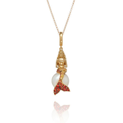 18ct Gold Sapphire Mermaids Necklace