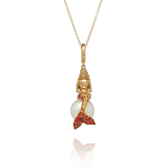 18ct Gold Sapphire Mermaids Necklace | Annoushka jewelley