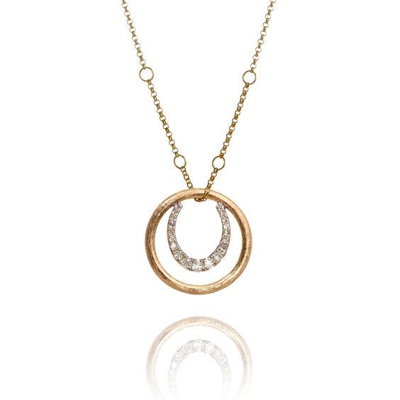 Hoopla 18ct Gold Horseshoe Necklace | Annoushka jewelley