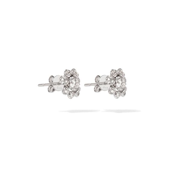 Marguerite 18ct White Gold Diamond Large Stud Earrings | Annoushka jewelley