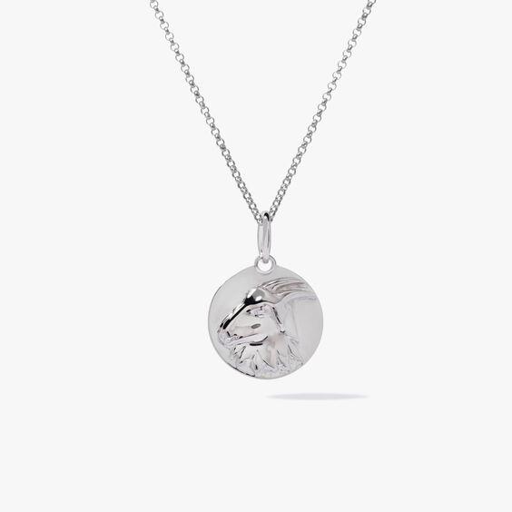 Mythology 18ct White Gold Capricorn Necklace