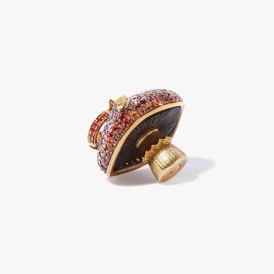 18ct Gold Ruby & Sapphire Diamond Magic Mushroom Charm | Annoushka jewelley