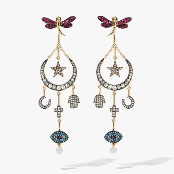 Love Diamonds 18ct Yellow Gold Diamond Lunar Earrings | Annoushka jewelley
