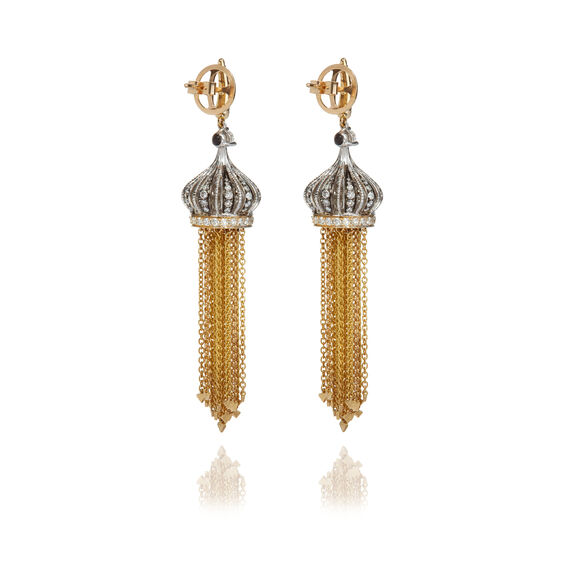 Touch Wood 18ct Gold Tassel Earrings | Annoushka jewelley