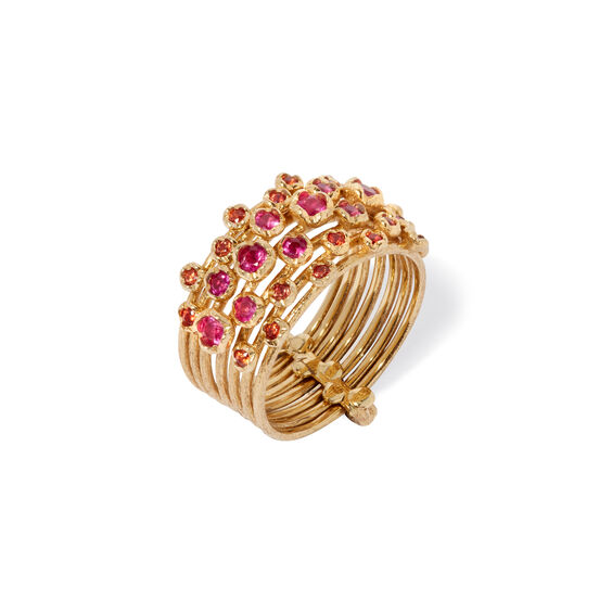 Hidden Reef 18ct Gold Sapphire Ring | Annoushka jewelley