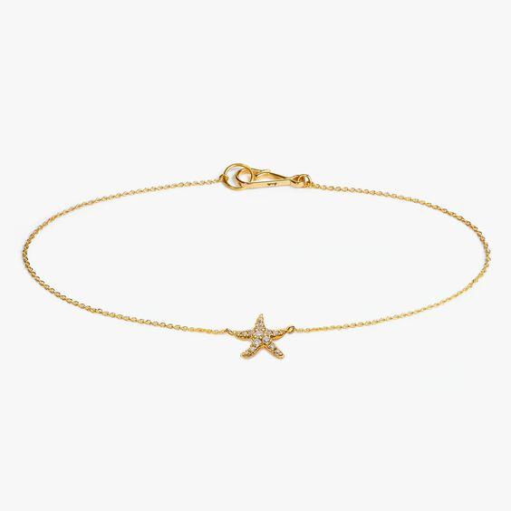 Love Diamonds 18ct Gold Diamond Starfish Bracelet