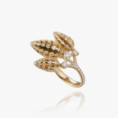Topiary 18ct Yellow Gold Diamond Ring
