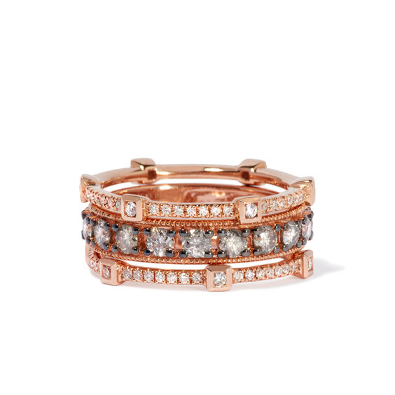Icy Diamond Ring Stack in 18ct Rose Gold | Annoushka jewelley