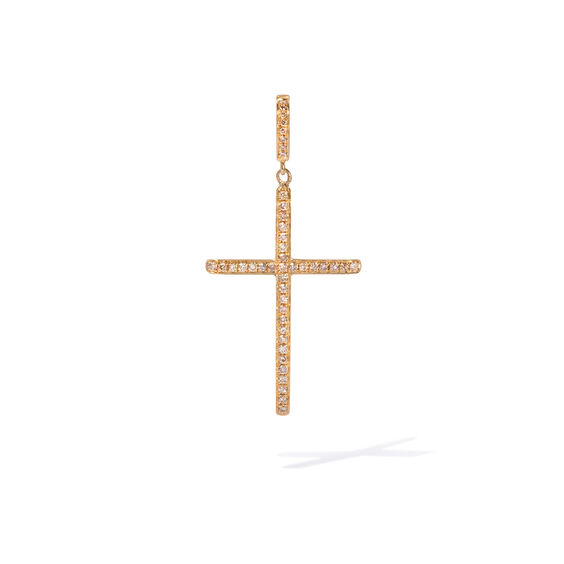 Eclipse 18ct Gold Brown Diamond Cross Pendant | Annoushka jewelley
