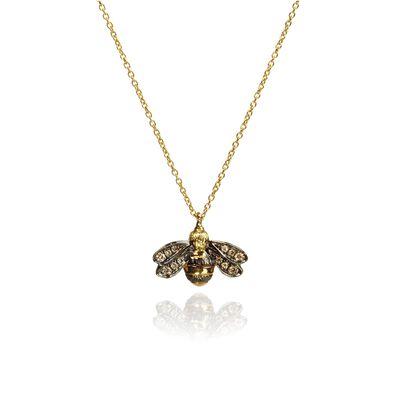 Love Diamonds 18ct Gold Diamond Bee Necklace