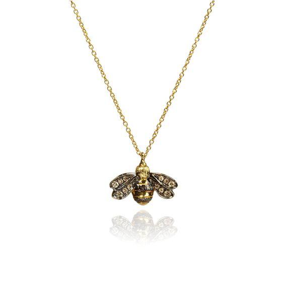 Love Diamonds 18ct Gold Diamond Bee Necklace | Annoushka jewelley