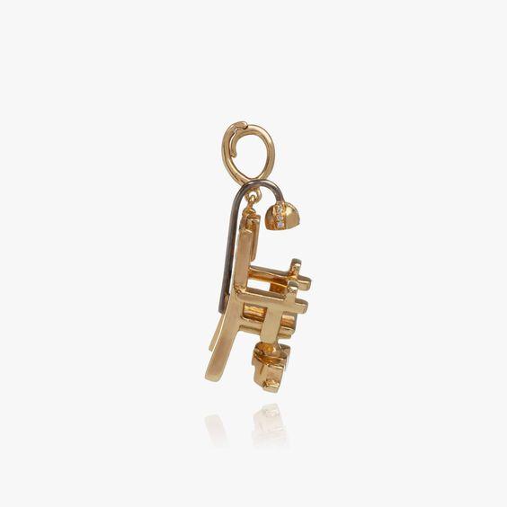 "18ct Gold Diamond ""The Mercy Seat"" Charm | Annoushka jewelley"
