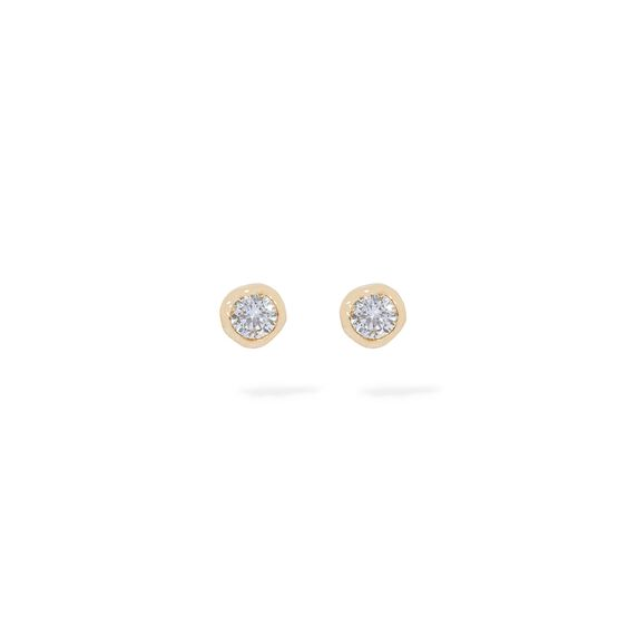 Love Diamonds 14ct Gold Solitaire Large Stud Earring | Annoushka jewelley