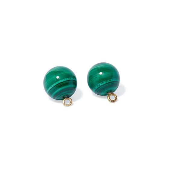 A Single Set of Malachite 18ct Gold Cufflinks | Annoushka jewelley