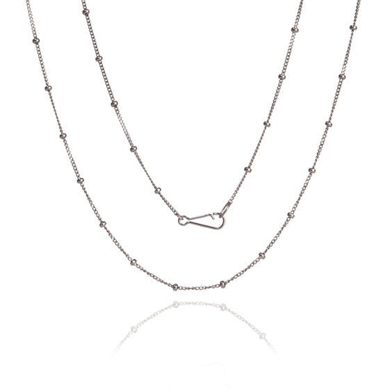 18ct White Gold Saturn Short Chain
