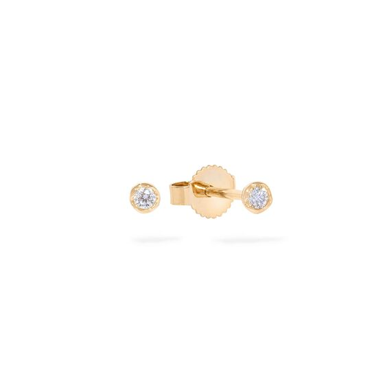 Love Diamonds 14ct Gold Solitaire Small Stud Earring | Annoushka jewelley